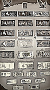 Antiques Mixed Media - Prison Tour 3 - Old Wyoming Plates - Sepia by Steve Ohlsen
