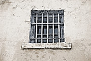 Security Mixed Media Framed Prints - Prison Window - Historical Old Frontier Prison Framed Print by Steve Ohlsen
