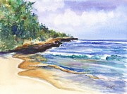 Marionette Paintings - Pristine Mahaulepu Beach by Marionette Taboniar