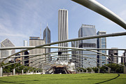Outdoor Theater Posters - Pritzker Pavilion Amphitheater Millennium Park Chicago Poster by Bill Cobb