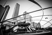 Editorial Posters - Pritzker Pavilion in Black and White Poster by Paul Velgos