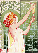 Thru Framed Prints - Privat Livemont - Absinthe Robette Framed Print by Nomad Art And  Design