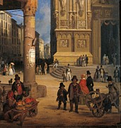 Italian Shopping Framed Prints - Private Collection. Detail. Cathedral Framed Print by Everett