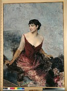 Boldini Posters - Private Collection. Woman Profile Poster by Everett