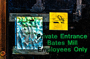 Factory Metal Prints - Private Entrance Metal Print by Bob Orsillo