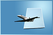 Passenger Plane Metal Prints - Private Jet Chicago Airplanes 14 Metal Print by Thomas Woolworth