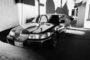 Limousine Prints - private limousine parked in Las Vegas Nevada USA Print by Joe Fox