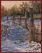 Landscape Greeting Cards Tapestries - Textiles Posters - Private Road Poster by Dena Kotka