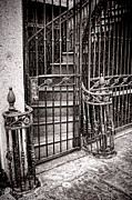 Wrought Iron Framed Prints - Private Stairway  Framed Print by Olivier Le Queinec