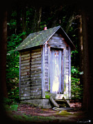 Antique Outhouse Photos - Privy by Linda Galok