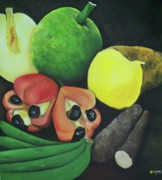 Meal Paintings - Produce of Jamaica by Kenneth Harris