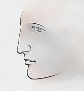 Greek Digital Art - Profile ancient greek by Christian Simonian