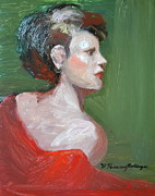 New Jersey Painting Originals - Profile Gaze by Patricia Kimsey Bollinger