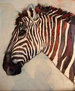 Profile Of Zebra Posters - Profile in Stripes Poster by Karen McDonald