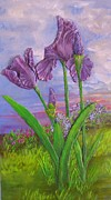 Featured Reliefs Originals - Profile of an Iris by Joyce Fostini