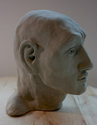 Human Head Sculptures - Profile Sculpture by Derrick Higgins