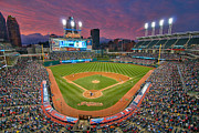 Ballfield Posters - Progressive Field Sunset Poster by Mark Whitt