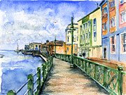 Promenade In Barbados Print by John D Benson