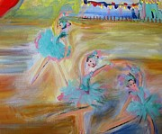Ballet Dancers Paintings - Promenade by Judith Desrosiers