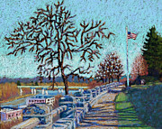 Old Glory Paintings - Promenade to Old Glory by Dorothy Jenson