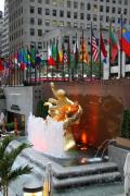 Mahattan Framed Prints - Prometheus - Rockefeller Center Framed Print by Christiane Schulze