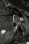 Boat Slip Posters - Propeller of an old abandoned ship Poster by RicardMN Photography