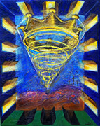 New Testament Painting Originals - Prophetic Message Sketch Painting 2 Crown by Anne Cameron Cutri