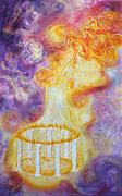 Anne Cameron Cutri Acrylic Prints - Prophetic MS 34 New Leader Treasure Restored Acrylic Print by Anne Cameron Cutri