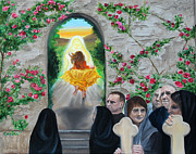 Martha Mary Paintings - Prophetic MS 38 Before the Miracle by Anne Cameron Cutri