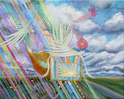 Prophetic Art Painting Originals - Prophetic MS 39 Praise and the Festival of Booths/Feast of Tabernacles by Anne Cameron Cutri