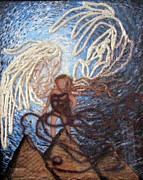 Drawing Painting Originals - Prophetic Storm of Angels by Jeanne Ward