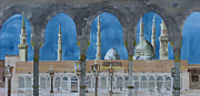 Arabia Painting Framed Prints - Prophets Mosque Medina Framed Print by Martin Giesen