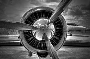 Plane Radial Engine Prints - Props And Jet Print by Rudy Umans