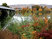 Small Towns Prints - Prosser - Autumn Bridge Print by Carol Groenen