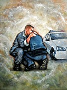 Law Enforcement Painting Prints - Protect Serve Survive Print by Craig Green