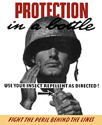 Protection In A Bottle Fight The Peril Behind The Lines Print by War Is Hell Store