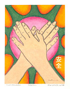 Budhist Prints - Protection - Mudra Mandala Print by Carrie MaKenna