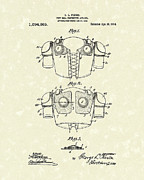 Gear Drawings Metal Prints - Protective Gear 1914 Patent Art Metal Print by Prior Art Design