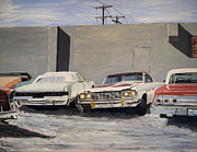 Chevrolet Paintings - Proto Low Riders by Patricio Lazen