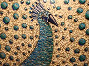 Cynthia Snyder Art - Proud as a Peacock 2 by Cynthia Snyder