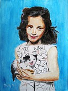 Portraits Paintings - Proud Moment by Judy Kay