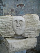 Natural Art Sculpture Originals - Proud Smiling Face by Stephen Nicholson