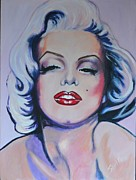 Iconic Painting Originals - Provacative Marilyn by Shirl Theis