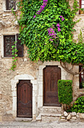 Saint Paul De Vence Framed Prints - Provencal Doors Framed Print by Brian Jannsen