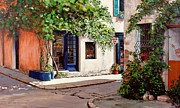 Provence Village Painting Prints - Provence Antiques Print by Michael Swanson