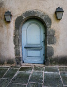 Provence Village Framed Prints - Provence Blue Door Framed Print by Lainie Wrightson