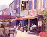 Provence Village Framed Prints - Provence cafe Framed Print by J Reifsnyder