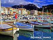 South Of France Posters - Provence France Poster by Mike Moore FIAT LUX