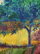 Impressionistic Drawings - Provence Tree by Eric  Schiabor