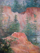 Canyons Paintings - Providence Canyon 5 by Gretchen Allen